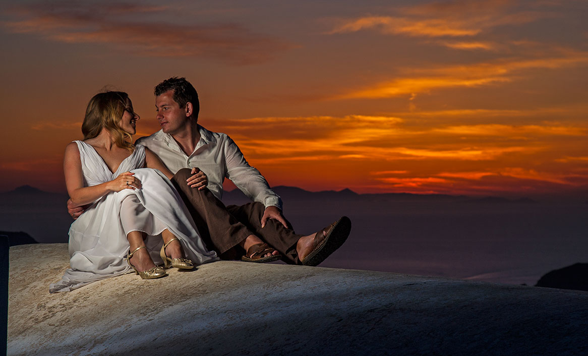 Imerovigli Santorini wedding photography & video